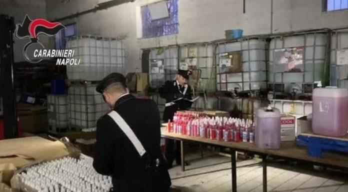 Coronavirus: sequestrato un laboratorio abusivo per produrre sanificante