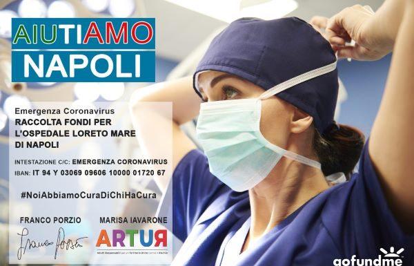 Coronavirus, Franco Porzio e ARTUR per il Loreto Mare: parte una raccolta fondi