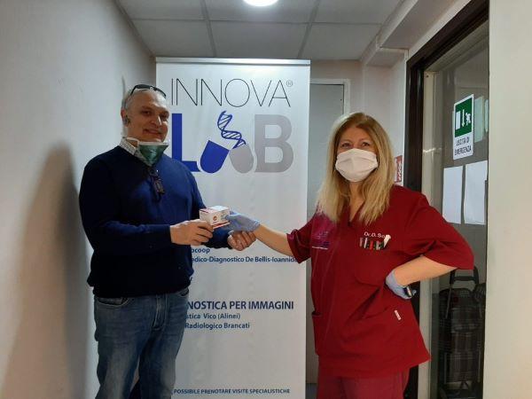 Coronavirus: Innovalab dona tre kit per la diagnosi all'Ospedale San Paolo