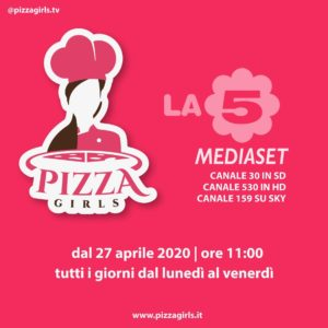 """""""Pizza Girls"""", debutta su La5 il primo format dedicato alla pizza secondo le donne"""