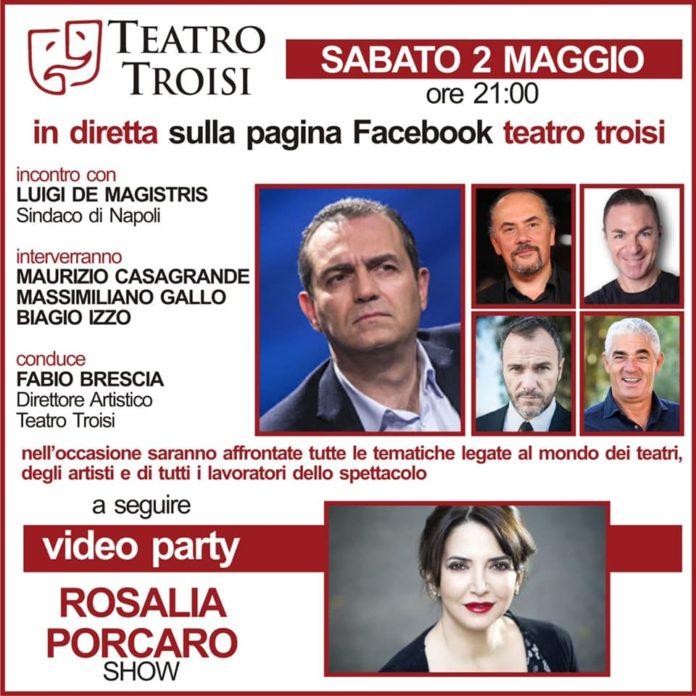 Teatro Troisi: diretta live sulla pagina facebook con Luigi de Magistris