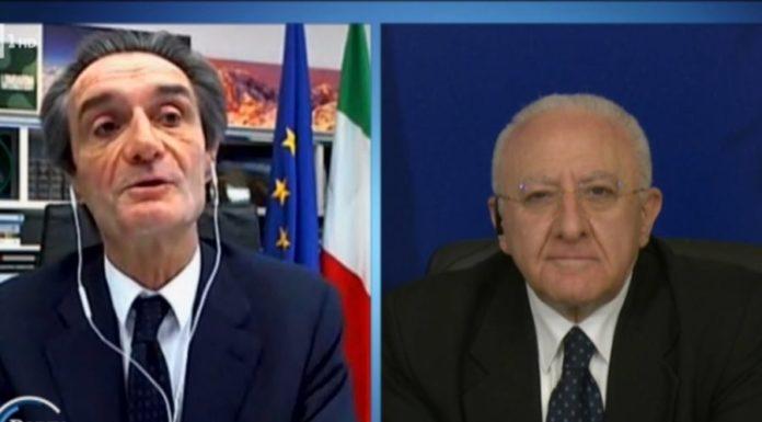 Coronavirus, De Luca: se si sbaglia un'ecatombe in Campania