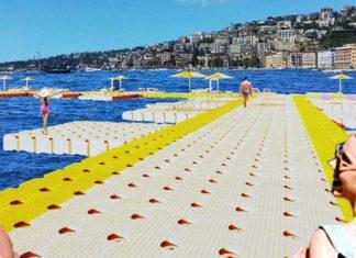'Isoliamoci', il progetto di pontili galleggianti sul lungomare di Napoli [FOTO]