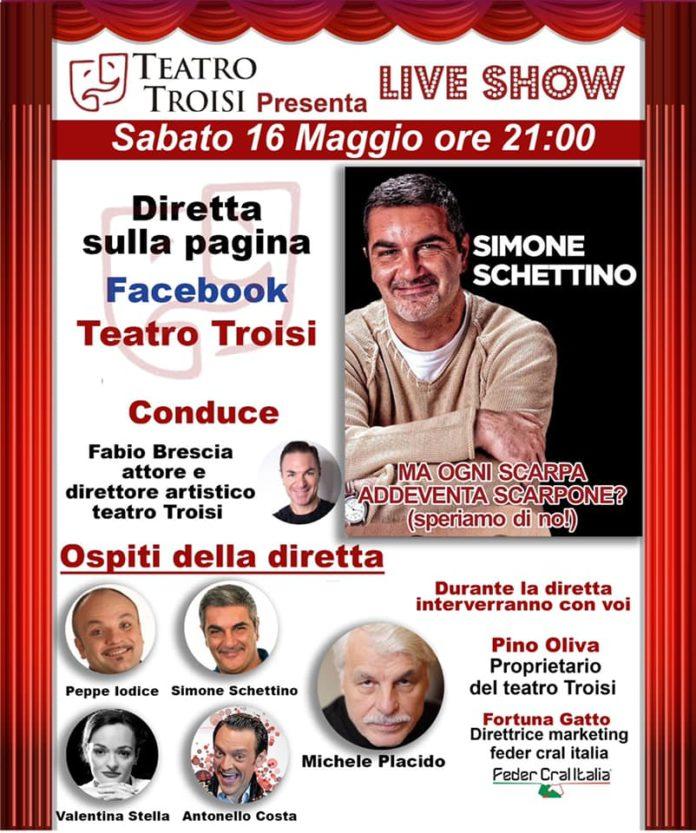 Teatro Troisi, stasera nuova diretta con Iodice, Schettino, Costa, Stella e Placido