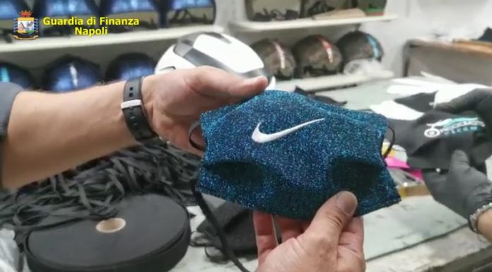 Forcella: sequestrata fabbrica clandestina di mascherine con loghi contraffatti