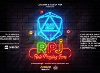 Comicon, arriva RPJ: il più grande evento online di Gioco di Ruolo in Italia