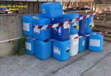 San Giorgio a Cremano: sequestrata una fabbrica abusiva di disinfettanti
