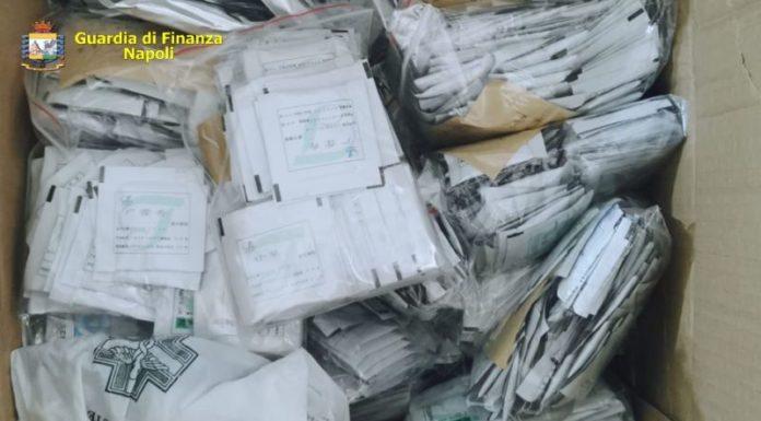Ponticelli: GdF sequestra oltre 24mila mascherine non a norma