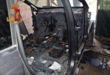 Striano, scoperto un deposito di auto rubate in un sotterraneo