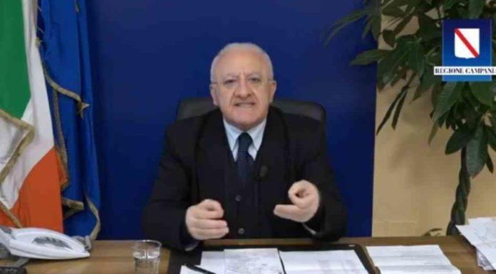 """Vincenzo De Luca: """"Limitazioni per territori con alto numero di contagi"""" (VIDEO)"""