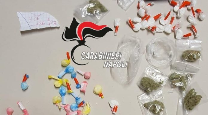 Controlli nel Vesuviano: sequestrato un chilo di droga e sette denunce