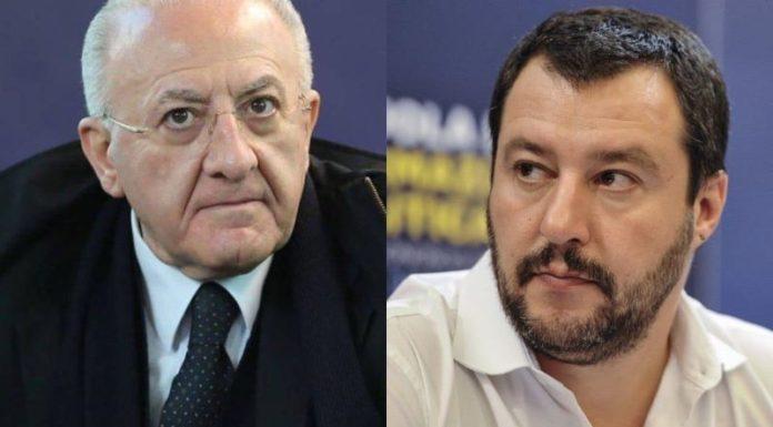 """De Luca punge ancora Salvini: """"Porta seccia, lavora per ritorno dell'epidemia"""""""