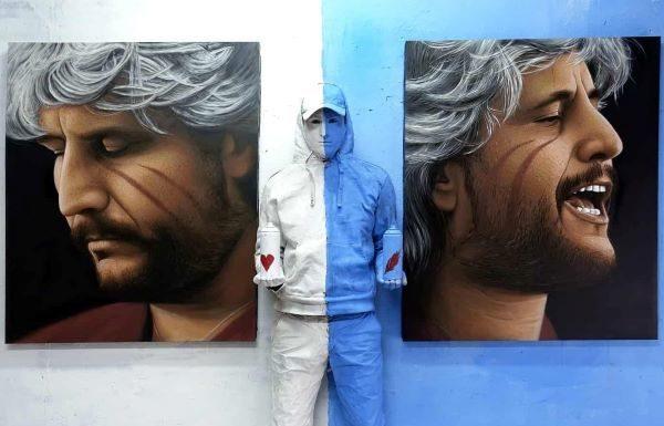 Jorit, omaggio a Pino Daniele: un murale alla stazione di piazza Garibaldi