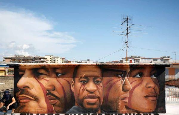 Jorit: un murale a Napoli in ricordo di George Floyd