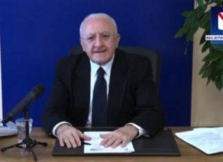 """Vincenzo De Luca sul Covid 19 in Campania: """"Siamo stati i più efficienti d'Italia"""" (VIDEO)"""