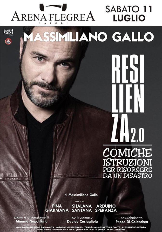 """Massimiliano Gallo all'Arena Flegrea inaugura """"Dove eravamo rimasti #ripartiamoinsieme""""."""