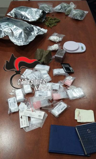 Afragola, 47enne in manette: sequestrati 2.5 kg di droga