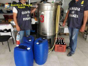 GDF Napoli: devoluto alcool sequestrato all'azienda ospedaliera Federico II