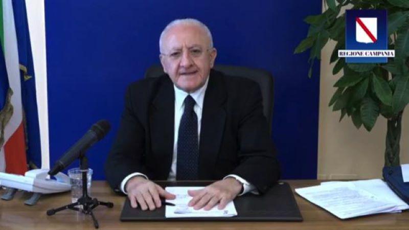 Campania zona rossa fino al 3 dicembre, risponde De Luca