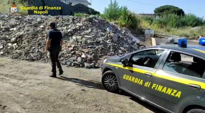 Ercolano: Guardia di Finanza sequestra 150 tonnellate di rifiuti speciali