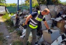 Nola, sequestrate 65 tonnellate di rifiuti abbandonati in area di 800 mq: 1 denuncia