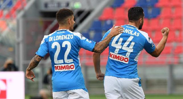 Calcio Napoli, pareggio amaro con il Bologna: finisce 1-1