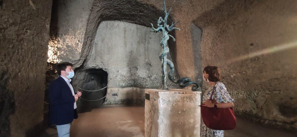 La Ministra Elena Bonetti in visita al Parco Archeologico di Ercolano