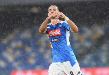 Il Calcio Napoli vince al San Paolo 3-1. Gol di Fabian, Insigne e Politano