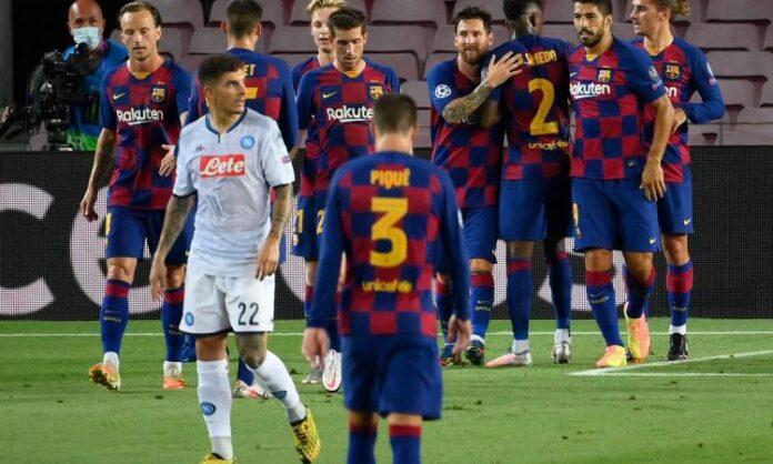 DIRETTA LIVE Barcellona-Napoli: 3 - 1 Napoli eliminato