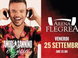 """Andrea Sannino con """"E' gioia live"""" all'Arena Flegrea venerdì 25 settembre"""