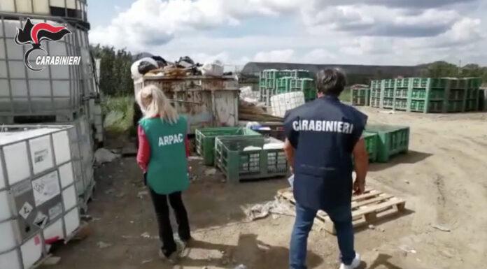Fiume Sarno: sequestrate 6 aree di stoccaggio rifiuti e 50 denunce