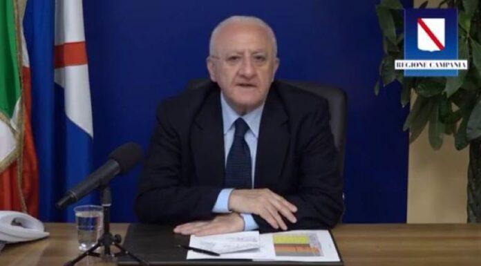 """De Luca sul Covid 19 in Campania: """"Situazione sotto controllo"""" (VIDEO)"""