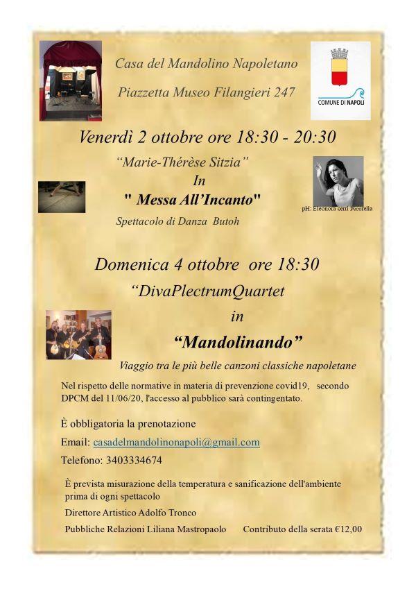 Casa del Mandolino Napoletano, due eventi nel weekend: Messa all'Incanto e Mandolinando