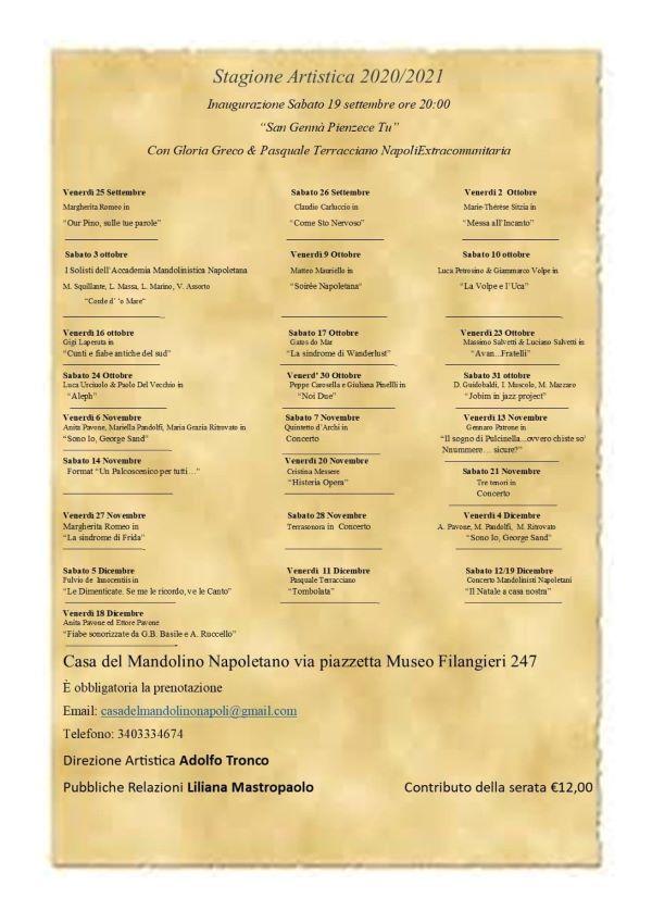 Casa del Mandolino Napoletano: il 16 settembre presentazione del programma degli eventi