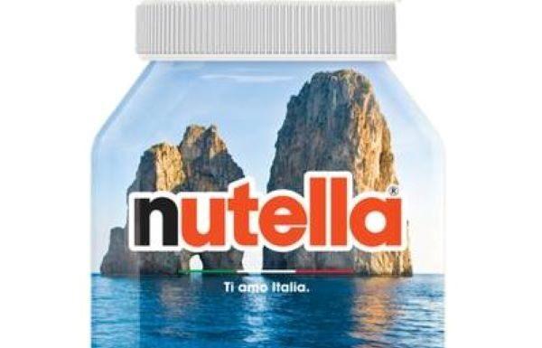 Nutella, barattoli dedicati all'Italia: per la Campania ci sono i Faraglioni di Capri