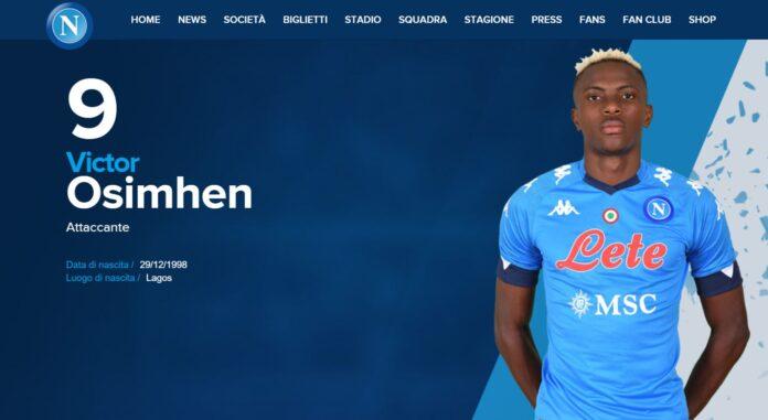 Calcio Napoli, i numeri di maglia: Osimhen prende la numero 9