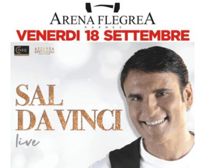 Sal Da Vinci all'Arena Flegrea con il suo concerto Live
