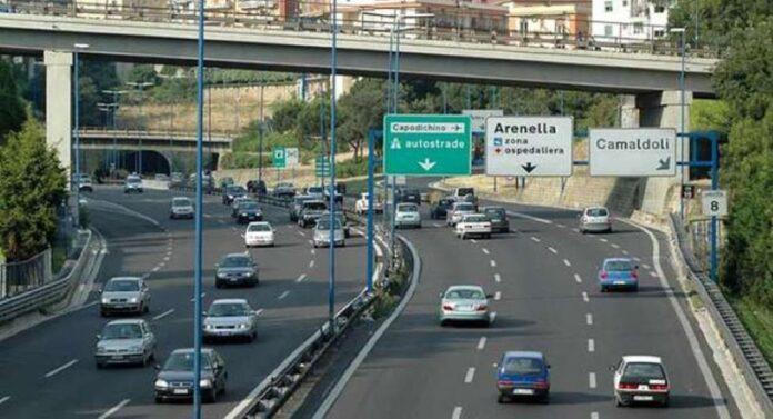 Lavori sulla Tangenziale di Napoli: chiusa per una notte l'uscita Arenella