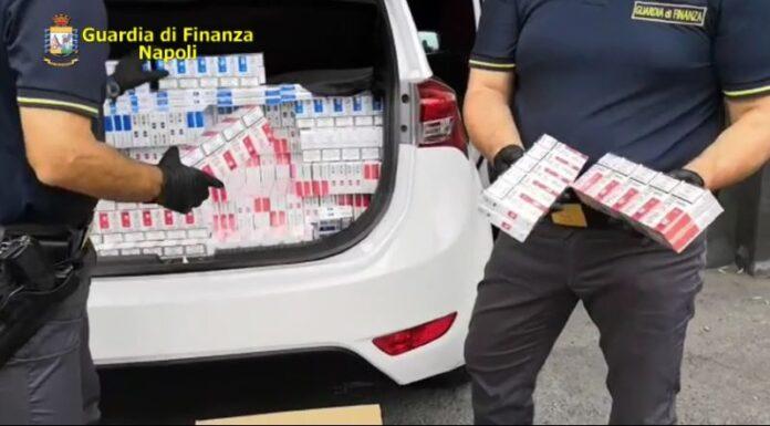 Marano, sequestrati 246 kg di sigarette: arrestati due contrabbandieri