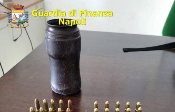 Lettere, GdF sequestra 50 munizioni e un caricatore: erano nascosti in un barattolo di caffè