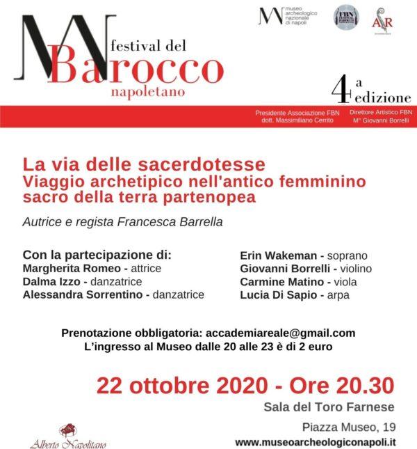 """Al Festival Barocco Napoletano lo spettacolo """"La Via delle Sacerdotesse"""""""