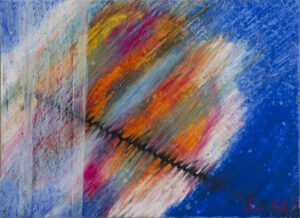 paesaggio svelato 7 24x33cm pastelli a olio su cartone 1