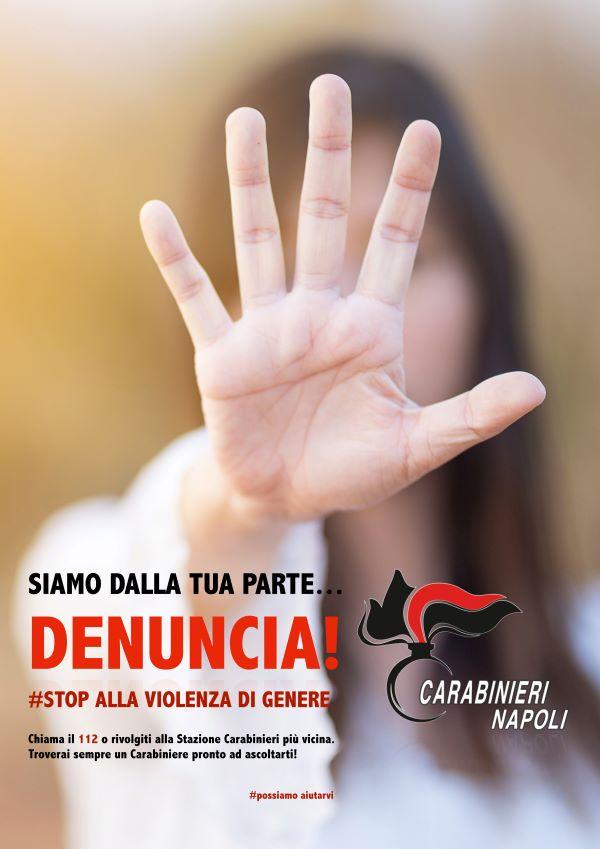 """Giornata contro la Violenza sulle donne, Carabinieri di Napoli: """"Possiamo aiutarvi"""""""