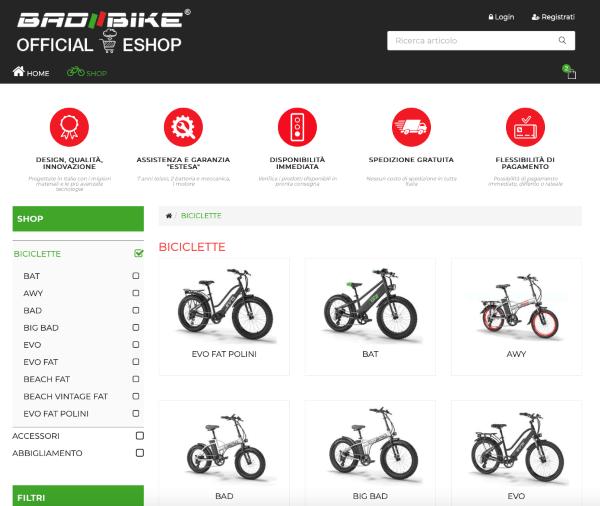 Bad Bike: un e-shop con possibilità di rateizzare e usufruire del Bonus Mobilità