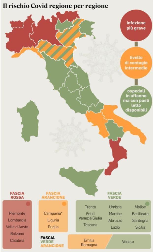La Campania è in zona arancione. Negozi aperti dal 6 dicembre