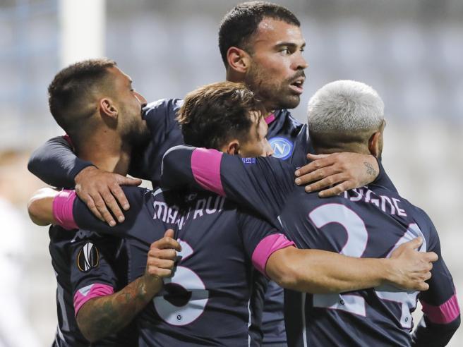 Europa League: il Napoli batte il Rijeka in rimonta