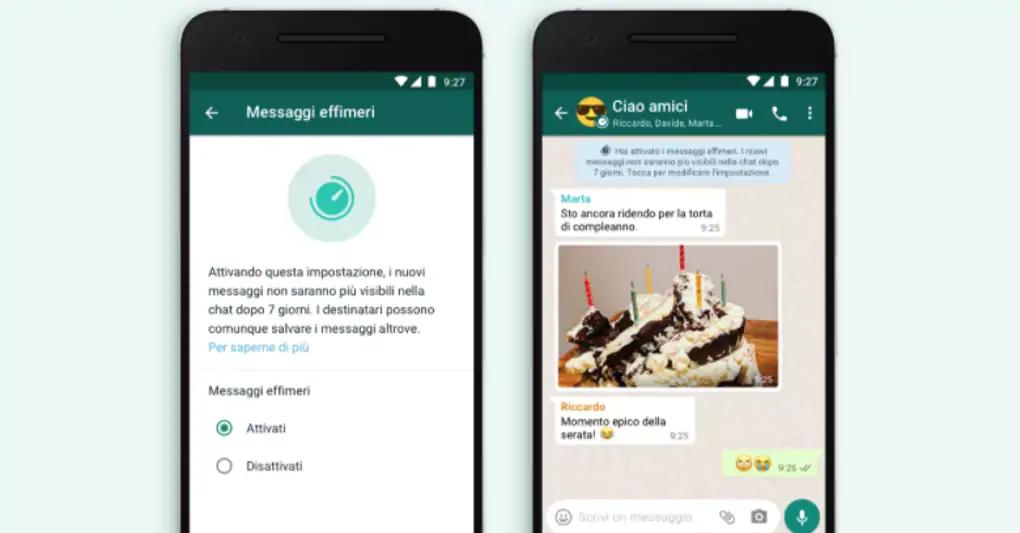 WhatsApp, arrivano i messaggi effimeri: come si attivano