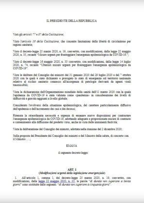 Dpcm Natale, Conte firma oggi: stop spostamenti e coprifuoco - LA BOZZA