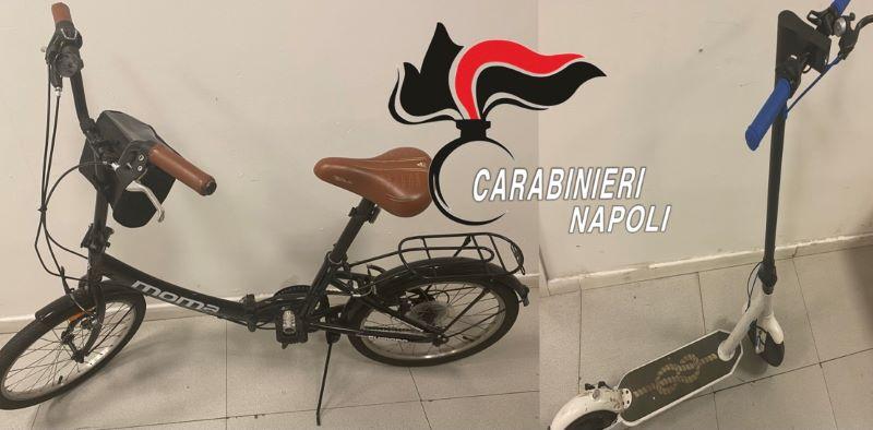 Piazza Bovio, Carabinieri arrestano ladro di biciclette e monopattini: IL NOME