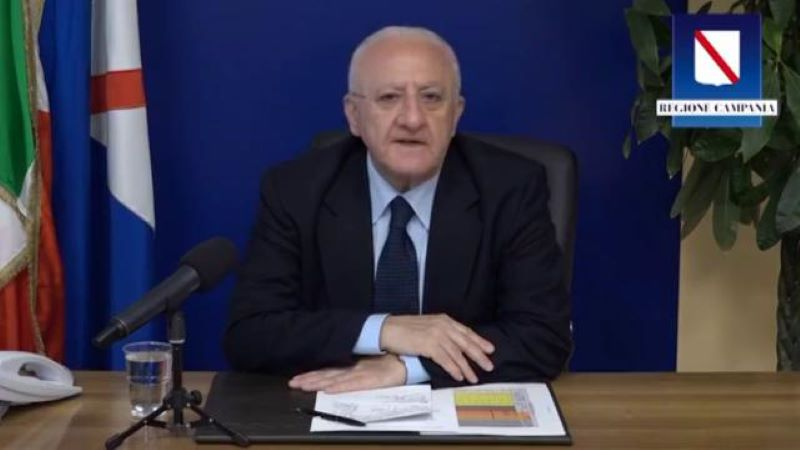 """De Luca: """"La Campania uscirà dal Covid 19 prima delle altre regioni"""" (VIDEO)"""
